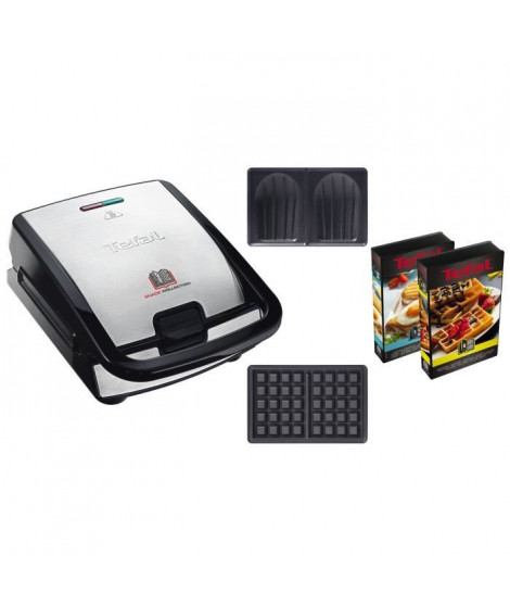 TEFAL SW853D12 Snack Collection Gaufrier multifonction - Inox