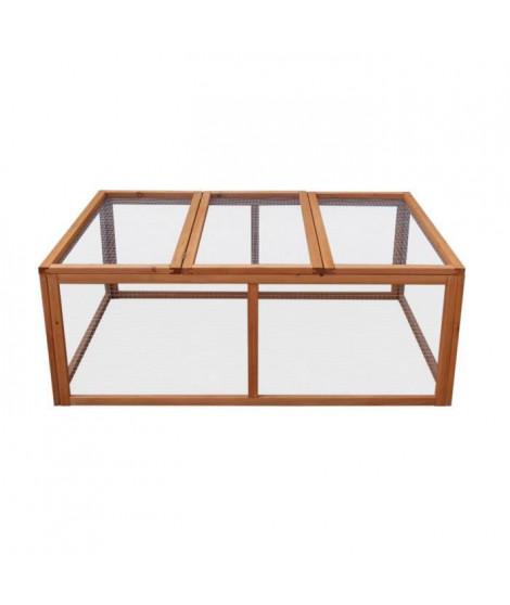 Clapier en bois Pilou 120x90x44 cm - Pour lapin