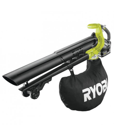 RYOBI Souffleur aspiro-broyeur 18V 5Ah 2 en 1 - 201 Km/h - RBV1850