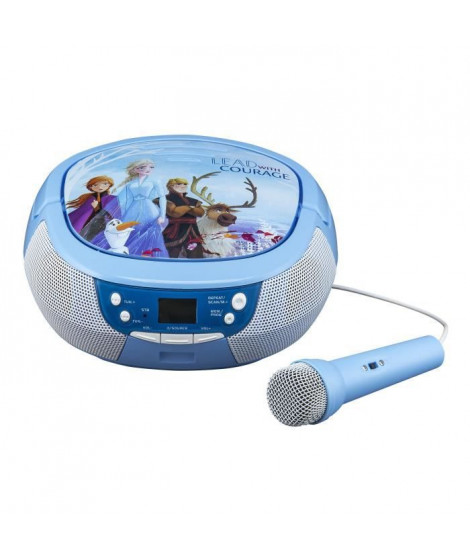 REINE DES NEIGES 2 CD Boombox avec Microphone - FR-430
