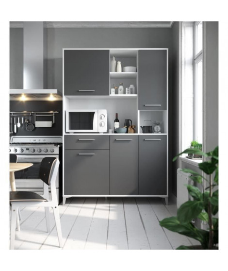 ECO Buffet de cuisine L 120 cm - Gris mat