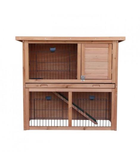 Clapier en bois pour lapin Diego 92x45x81 cm - Pour lapin