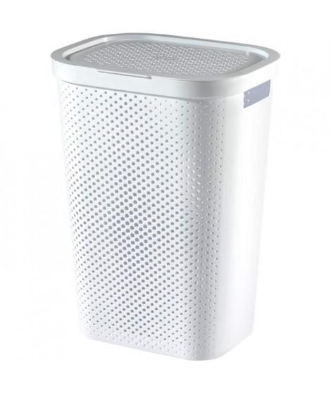 CURVER Coffre a linge en plastique recyclé - 60 L - Blanc