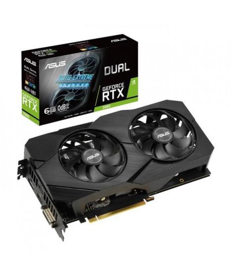 ASUS Carte Graphique Dual DUAL-RTX2060-O6G-EVO - GeForce RTX 2060 - 6 Go GDDR6 - 1,37 GHz Matériau - 192 bit Largeur de bus