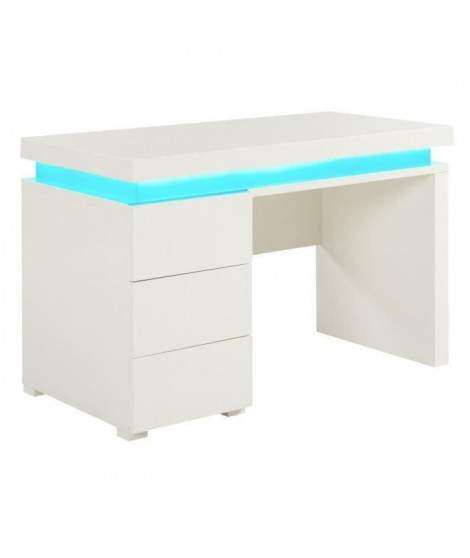 FLASH Bureau contemporain blanc brillant - L 120 cm