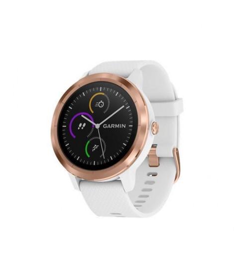 GARMIN Montre connectée avec GPS et Cardio Vivoactive 3 - Rose gold et Bracelet blanc