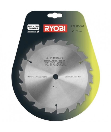 RYOBI Lame ULTRA FINE 150 mm - 18 dents - alésage 10 mm