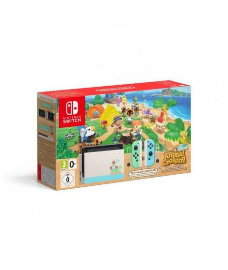 Console Nintendo Switch Animal Crossing (Code de téléchargement du jeu inclus)