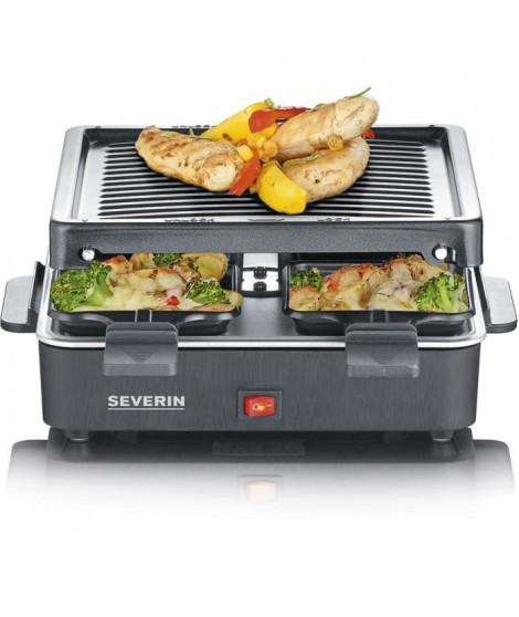 SEVERIN Raclette Gril 4 personnes compacte, facile a ranger, idéal pour les petits ménages, surface de cuisson 21 x 21cm, RG …