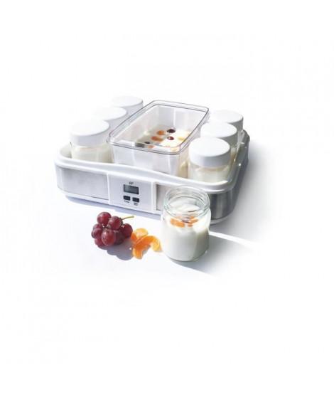 CONTINENTAL EDISON CEYA001 Yaourtiere 12 pots + 2 maxi bac - Blanc