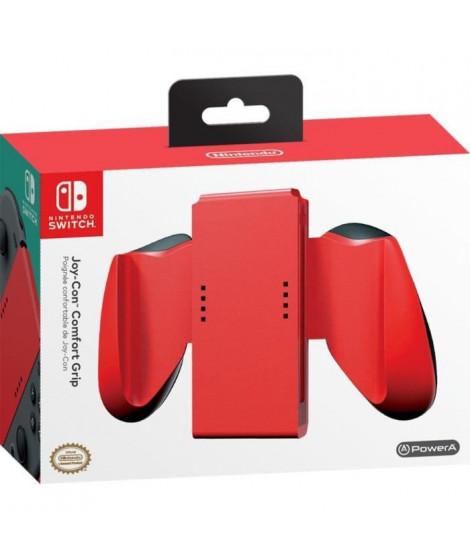 POWER A Support Joy-Con - Rouge - Nintendo Switch - Boîtier léger et ergonomique avec des poignées confortable
