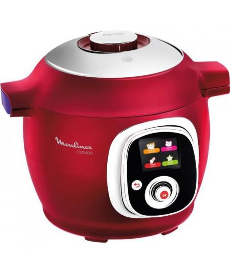 MOULINEX CE701500 Multicuiseur intelligent Cookeo avec 100 recettes préprogrammées - Rouge