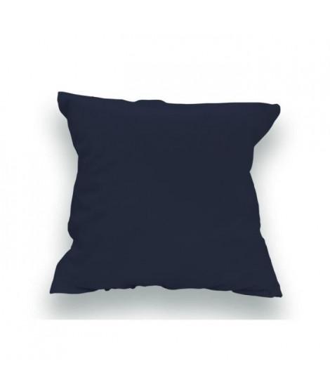 SOLEIL d'OCRE Lot de 2 Taies d'oreiller 100% Coton 65x65 cm Bleu Marine