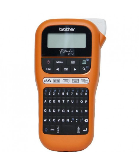 BROTHER Etiqueteuse portable pour les électriciens PT-E110F - 12 mm - LCD
