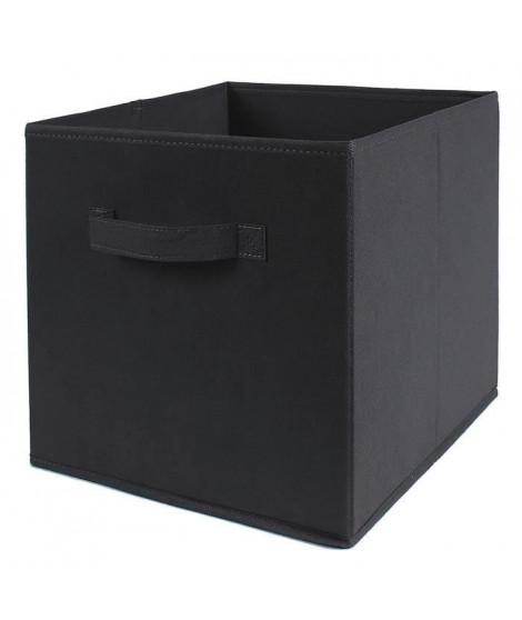 CASAME Cube pliable en intissé - 28 x 28 x 5 cm - Gris anthracite