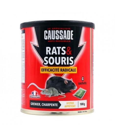 CAUSSADE Boîte 4 sachets céréales - Pour rats & souris - 100 g