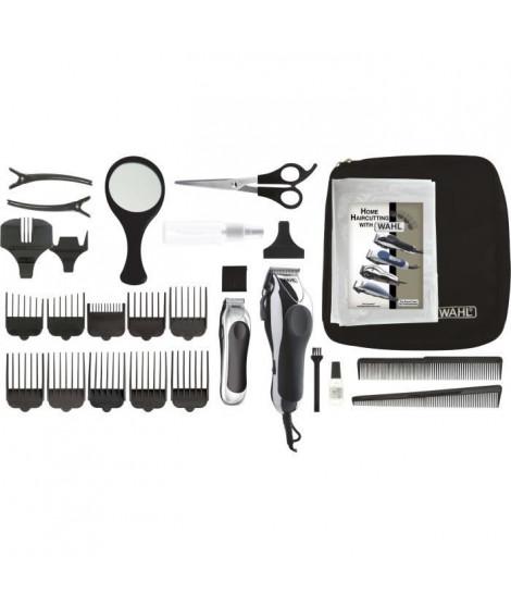 WAHL Tondeuse cheveux Chrome Pro DELUXE 79524-2716 - Tondeuse filaire Made in USA et sa tondeuse de précision - Moteur puissa…