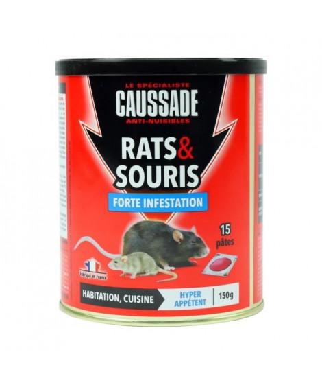 CAUSSADE Boîte 15 pâtes appât pret a l'emploi - Pour rats & souris - 150 g