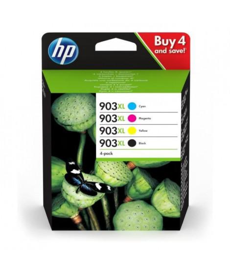 HP 903XL pack de 4 cartouches d'encre noire/cyan/magenta/jaune authentiques pour HP OfficeJet Pro 6950/6960/6970 (3HZ51AE)
