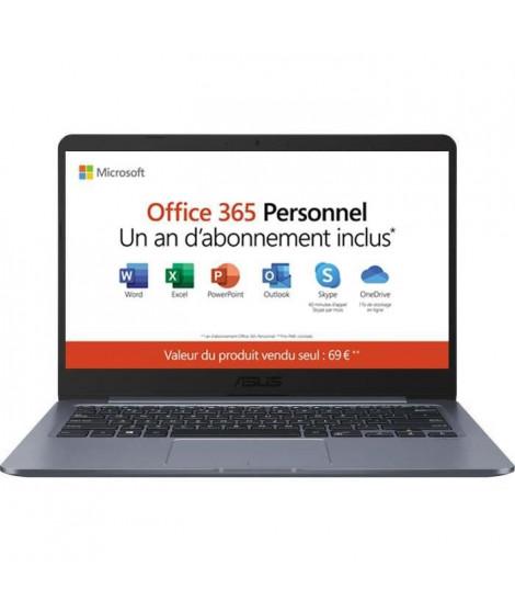 ASUS PC Portable - E406SA-BV251TS - 14,1 HD - Intel Pentium N3700 - RAM 4Go-Stockage 64Go eMMC-Win10+Office 365 Personnel inclus