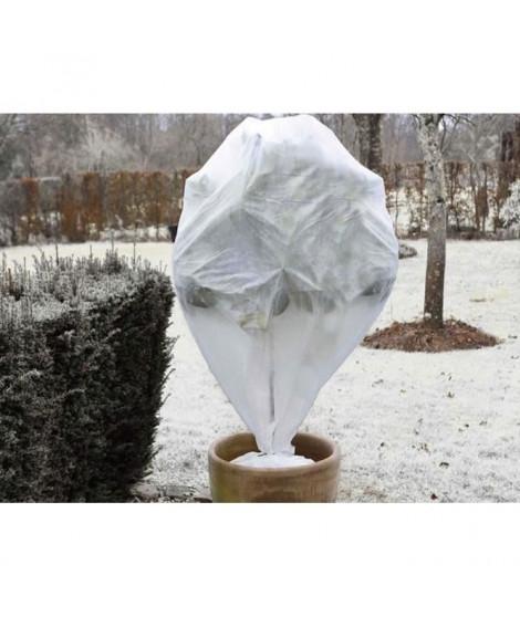 NATURE Lot de 3 housse d'hivernage 30 g/m² - H 75 x Ø 48 cm - Blanc
