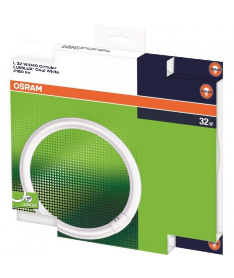 Osram tube fluorescent néon LUMILUX C T9,840 blanc neutre 32W
