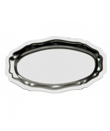 LEBRUN Plat ovale inox 4710404 40x23cm gris