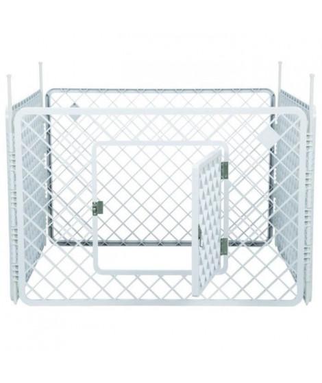 IRIS OHYAMA - Enclos H-604 - Plastique - Blanc - 90 x 90 x 60 cm - Pour chien