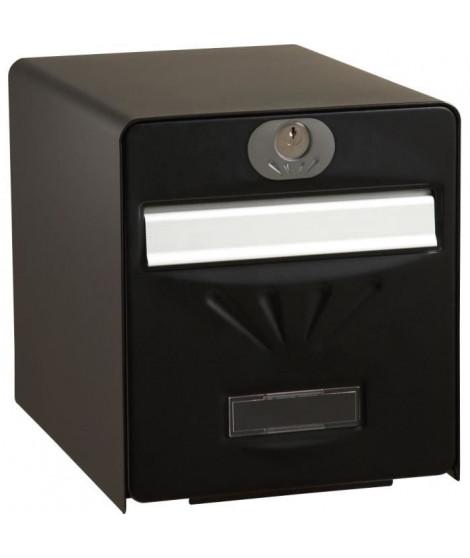 BURG WACHTER Boîte aux lettres Balnéaire en acier galvanisé - 2 portes - Noir