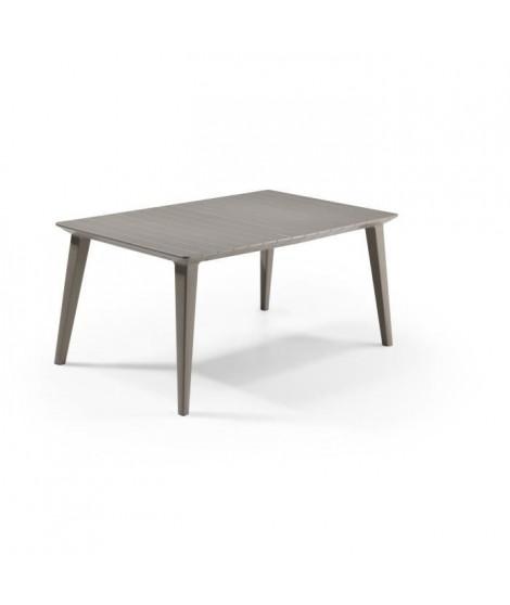 ALLIBERT JARDIN Table Lima 160 6 personnes - Design contemporain - Cappucino