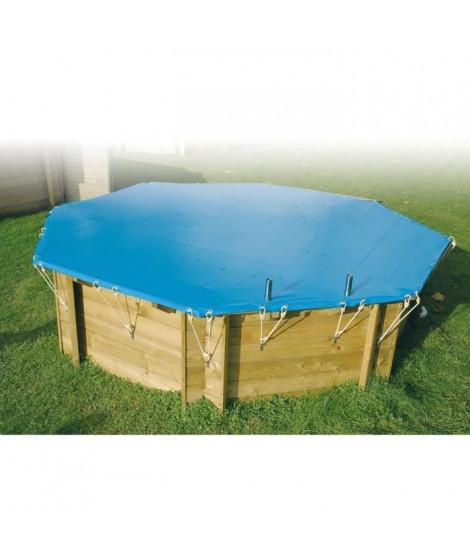 UBBINK Bâche de sécurité pour piscine 300x490 - Bleu