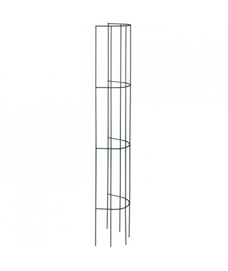 NATURE Treillis métallique tuyau de descente plastifié gris - H145x18 cm