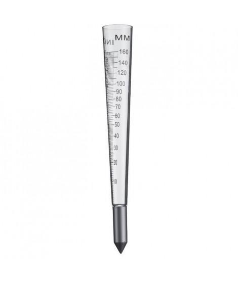 NATURE Pluviometre a piquer au sol - 100 ml - H 30,5 x Ø 4 cm