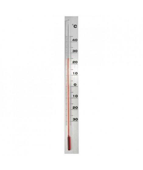 NATURE Thermometre mural d'extérieur en aluminium  37 x 3,8 x 0,6 cm