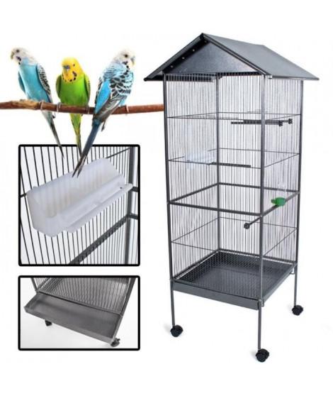 POILS & PLUMES OISEAU Cage a oiseau KUIKUI en métal - Hauteur 155 cm