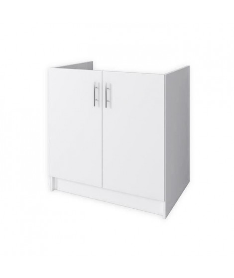 OBI Meuble sous évier L 80 cm - Blanc mat