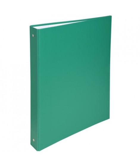 EXACOMPTA - Classeur a anneaux - Dos 40 mm - 21 x 29,7 - 4 anneaux - Remborde plastique 18/10eme - Couleur verte
