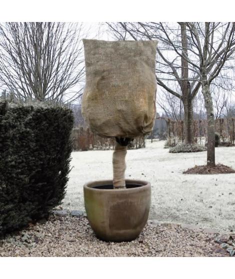 NATURE Housse d'hivernage en toile de jute tissée - 230 g/m² - Ø 75 cm x 1 m