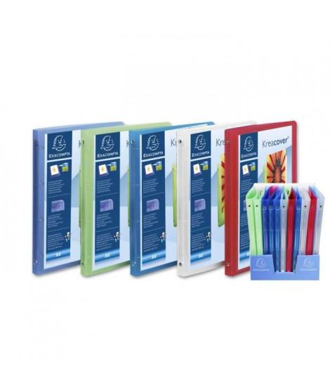 CLAIREFONTAINE - Cahier classeur personnalisable- 21 x 29,7 - 4 anneaux - Polypropylene translucide 5/10eme - 5 couleurs aléa…