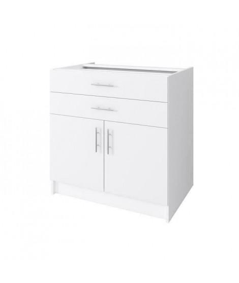 OBI Meuble bas de cuisine L 80 cm - Blanc mat