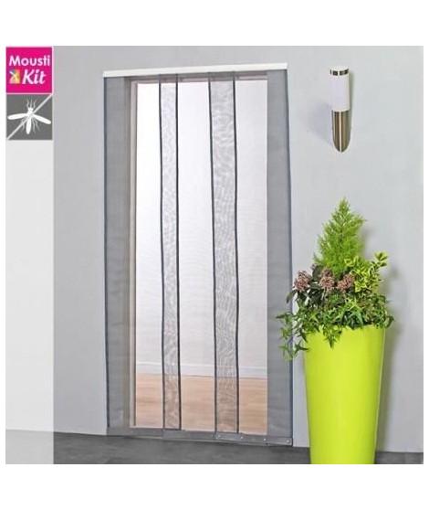 Moustiquaire rideau pour porte L100 x H230 cm gris - MOUSTIKIT