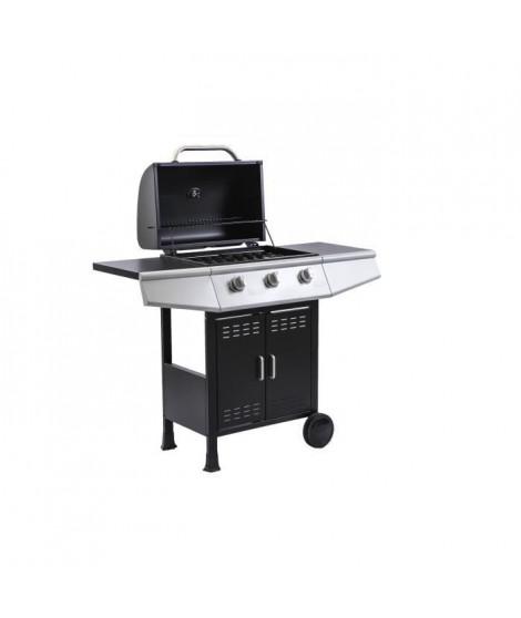 COOKING BOX Barbecue a gaz Paarl - 3 feux - Grilles émaillées - 52 x 34 cm