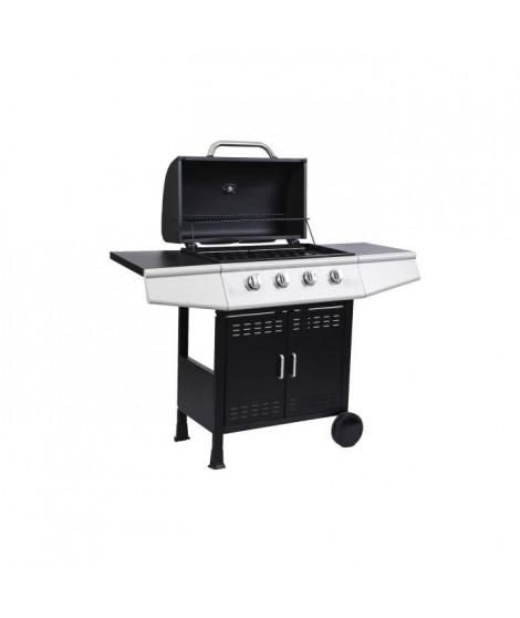 COOKING BOX Barbecue a gaz Paarl - 4 feux - Grilles émaillées - 60 x 34 cm
