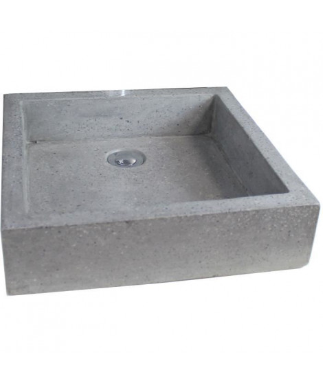 Vasque en terrazzo Timbre 40x40cm gris