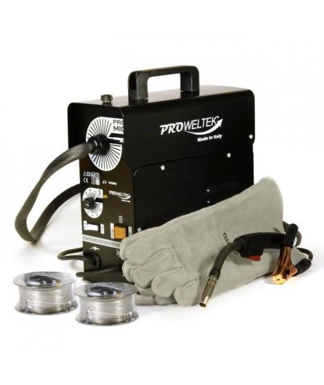 PROWELTEK Poste a souder PROMIG100 - Livré avec 2 bobines de fil fourré Ø 0,9 mm et gant de soudeur anti chaleur