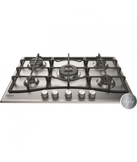 HOTPOINT PNN 751 IX - Table de cuisson gaz - 5 foyers - 10,5kW - L75 x P51cm - Revetement inox - Inox
