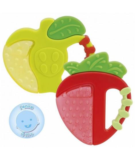 CHICCO Anneaux de dentition Réfrigérant Fraise/Pomme - x1