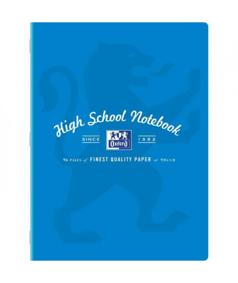 CAHIER OXFORD HIGH SCHOOL AGRAFE 240X320 96P 90G SEYES