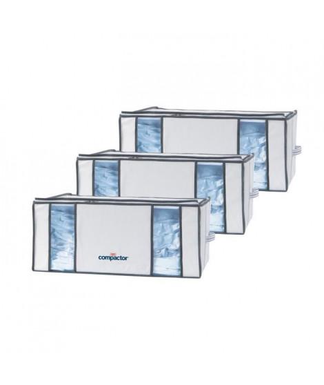 COMPACTOR Lot de 3 housses de rangement sous-vide Life - XXL (210 L) - 65x50xH27 cm