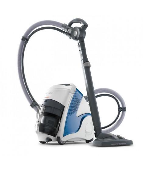 POLTI - Unico MCV80 - Aspirateur nettoyeur vapeur 3en1  - autonomie illimitée - filtre HEPA - 6 BAR - 2200W - Bleu + Blanc